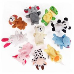 1Pc Cute plush Baby Puzzle Animal Fingers Hand Puppet Educational Toys for Kids