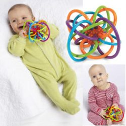 0+ Infant Baby Kids Toy Ball Winkel Sensory Puzzle Teether Activity BPA Free