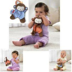 Fisher Price Baby Kids Children Soft Monkey Comfort Blanket Hanging Toy Rattle