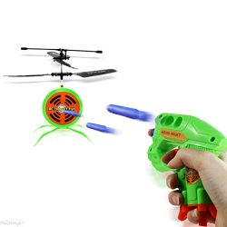 Haktoys HAK207 RC Flying Target Shooting Game   Ultimate Radio Control Gun Shooting Fun   Excellent Accessory for Nerf Guns   Gift and Toy for Kids, Teens, and Adults