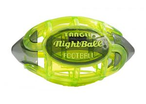 Tangle NightBall Glow in the Dark Light Up LED Football, Green with Gray
