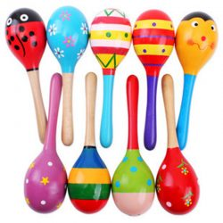 Hot! Baby Kids Sound Music Gift Toddler Rattle Musical Wooden Colorful Toys 1PC
