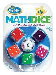 Think Fun Math Dice Junior Game for Boys and Girls Age 6 and Up – Teachers Favorite and Toy of the Year Nominee