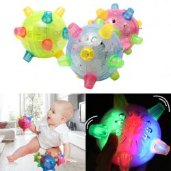 Baby Kids Classic Toy Jumping Flashing Light Up Bopper Vibrating Sound Ball X PL