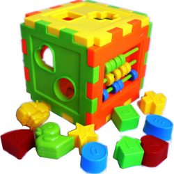 Baby Shape Sorter Educational Toddler Matching Blocks Toy Shapes Sorting Cube