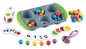 Learning Resources Mini Muffin Match Up Counting Toy Set, 77 Pieces