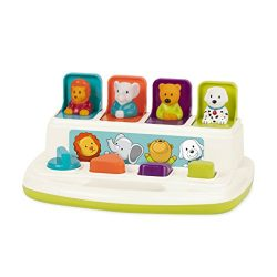 Battat Pop Up Pals Cause and Effect Learning Toy for Babies