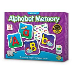 The Learning Journey Match It! Memory – Alphabet – Capital and Lowercase Letter Matching Game with 26 Matching Pairs
