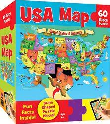 MasterPieces Explorer Kids – USA Map – 60 Piece Kids Puzzle