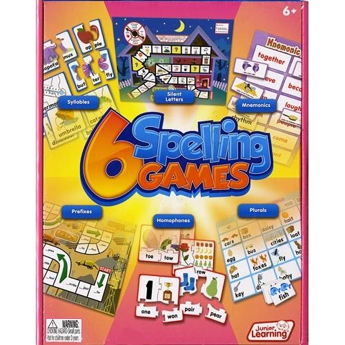 6 Spelling Games by Junior Learning  – 6 Spelling Games