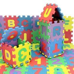 36pcs Unisex Mini Puzzle Kid Educational Toy Alphabet Letters Numeral Foam MatHK