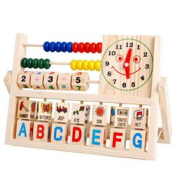 US Children Baby Kids Learning Developmental Versatile Flap Abacus Wooden Toys