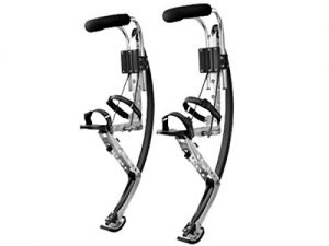Adult Kangaroo Shoes Jumping Stilts Fitness Exercise (200-242lbs/90~110kg) Bouncing shoes (black)