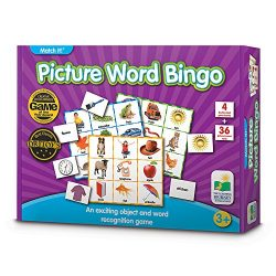 The Learning Journey Match It! Bingo – Picture Word – Reading Game for Preschool and Kindergarten 36 Picture Word Cards