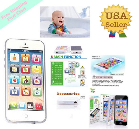Educational Learning Toy Toddler Baby iPhone Tablet Christmas Gift For Kids Boys