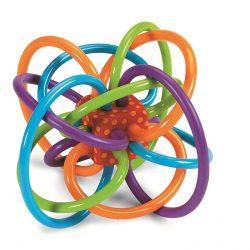 Manhattan Developmental Toy Winkel Rattle Activity and Sensory Teether Toy