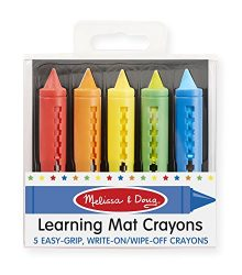 Melissa & Doug Learning Mat Crayons – 5 Colors