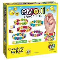 Creativity for Kids Emoji Bead Bracelet Craft Kit – Makes 5 Emoji Bracelets