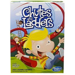 Chutes and Ladders Updated Classic Educational Kids Board Game Hasbro A4756