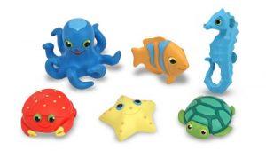 Melissa & Doug Sunny Patch Seaside Sidekicks Creature Set – Water Toys for Kids