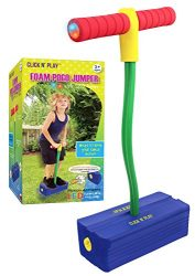 Click n' Play Foam Pogo Jumper – Makes Squeaky Sounds with Flashes LED Lights