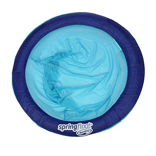 SwimWays Spring Float Papasan Pool Chair, Dark Blue / Light Blue