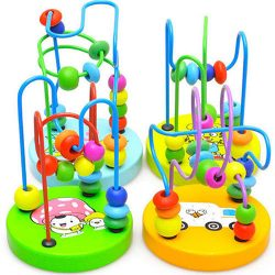 Baby Toddler Kids Educational Wooden Beads Around Intelligence Game Toy Gift US