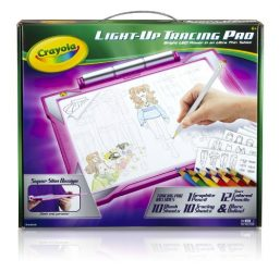 Crayola Light-up Tracing Pad – Pink, Coloring Board for Kids, Gift, Toys for Girls, Ages 6, 7, 8, 9, 10