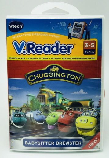 NEW Vtech V.Reader Chuggington Babysitting Brewster Learning Games 3-5 years