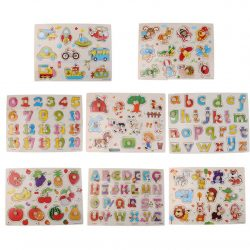 HOT Alphabet Numbers Peg Puzzles Baby Toddler Preschool Educational Toy US STOCK