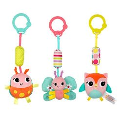 Bright Starts Chime Along Friends Take-Along Toys–Characters May Vary, Each Sold Separately