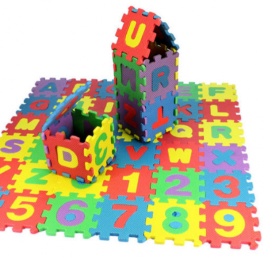 36pcs Baby Kids Alphanumeric Educational Puzzle Blocks Infant Child Toy Gift