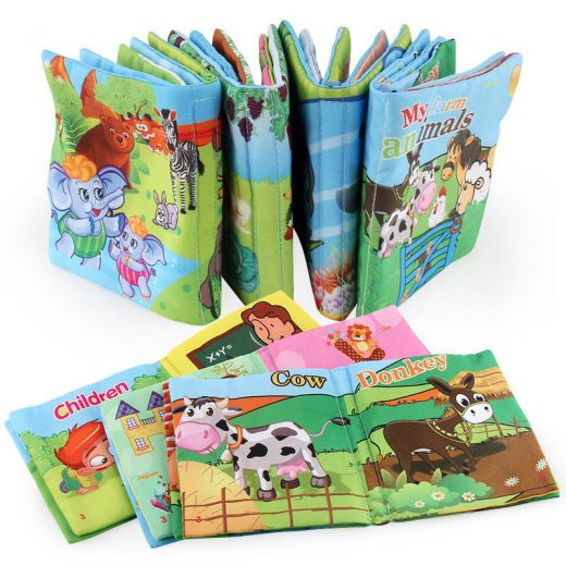 Soft Cloth Baby Books Learning Toys Toddlers Baby Doll Folding Activity Books