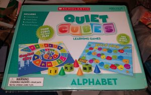 Scholastic Alphabet Quiet Cubes Learning Games [New and Sealed]