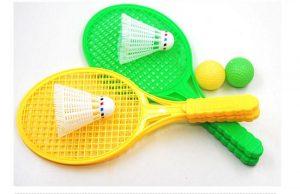 1pair Child Badminton Tennis Racket Baby Sports Bed Toy Educational Pop ATIJ