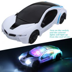 Funny Flashing Music Racing Car Electric Automatic Toy Birthday Kid Child Gift