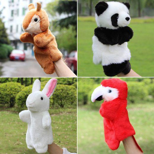 HOT Animal Hand Puppet Baby Kids Plush Doll Kids Story Telling Educational Toys