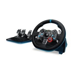 Logitech Dual-motor Feedback Driving Force G29 Racing Wheel with Responsive Pedals for PlayStation 4 and PlayStation 3