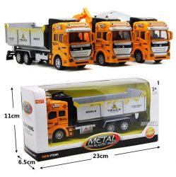 1:32 Toy Boys Car Transporter Construction Car Vehicle Gift For Kids Cool Toy US