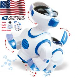 Cool Toys  Walk Gift Dance Robot Dog Musical Light Shake Head for Baby Toy Kids