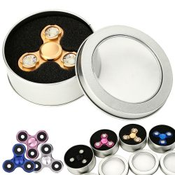 Tri-Spinner Fidgets EDC Toy for Children Adult Gift Anti Stress Anxiety with Box