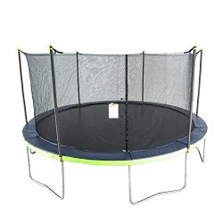 ActivPlay 14′ Round Trampoline & Enclosure, Blue/Green