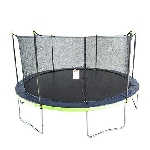ActivPlay 14′ Round Trampoline & Enclosure, Blue/Green