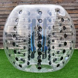 Costzon Bubble Soccer Ball, Dia 5′ (1.5m) Human Hamster Ball, Inflatable Bumper Ball For Kids And Adults (Black Dot)