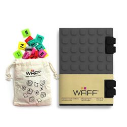 """WAFF Soft Silicone Cover Combo Personalized Notebook / Journal, Medium 5.75"""" x 4"""", Gray"""