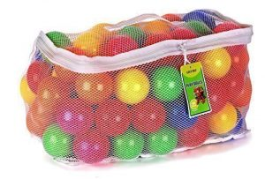 Click N' Play Pack of 100 Phthalate Free BPA Free Crush Proof Plastic Ball, Pit Balls – 6 Bright Colors in Reusable and Durable Storage Mesh Bag with Zipper