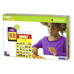 Stages Learning Materials Link4fun Real Photo Fun Food Bingo Game for Family, Preschool, Kindergarten, Elementary Education: 36 Picture Cards and App