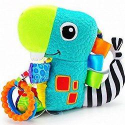 Baby Kids Children Rattles Squeaky Crinkle Clanking Dinosaur Sensory Soft Toy 0+