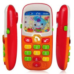 Baby Kid Musical Mobile Phone for Toddler Sound Hearing Educate Learning Toy KY