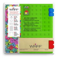 "WAFF Soft Silicone Cover Combo Personalized Notebook / Journal, Large 8.25"" x 5.5"", Green"
